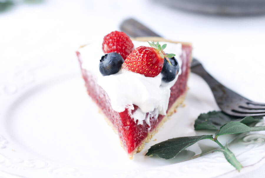Gluten Free Raspberry Cream Pie