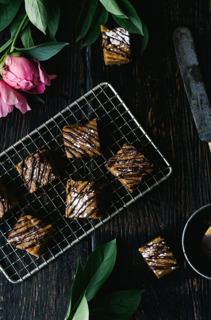 This Paleo snack cake is so incredibly moist and practically melts in your mouth. Tastefully drizzled with lushes chocolate sauce, this grain free dessert makes a perfect snack for those sweet tooth cravings.