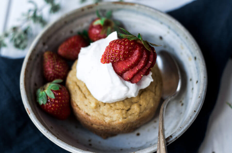 Paleo Strawberry Shortcake Mug Muffin