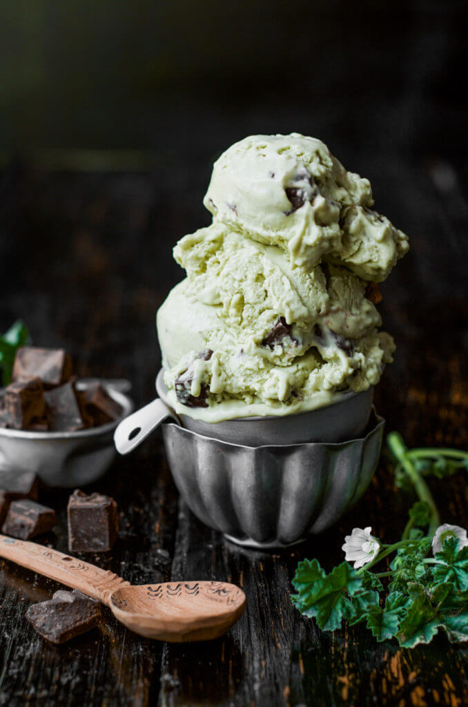 Easy Paleo Mint Chocolate Chip Ice Cream