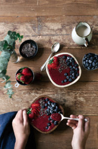 vegan berry smoothis bowl-2