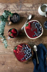 vegan berry smoothis bowl-23