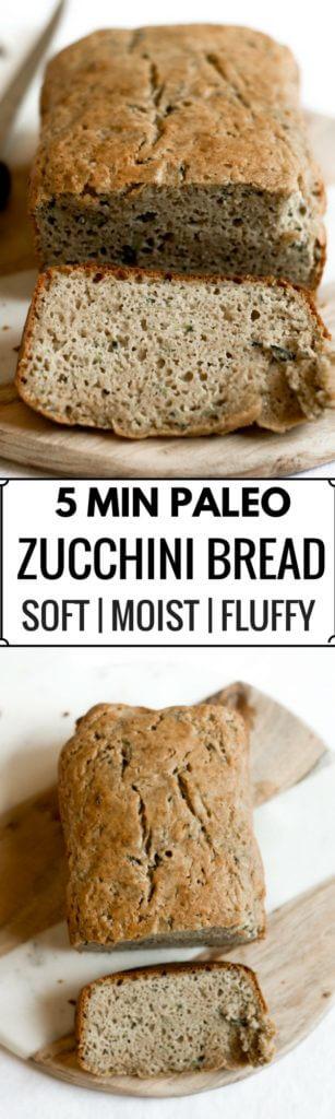 5 Minute Paleo Zucchini Bread Paleo Gluten Free Eats