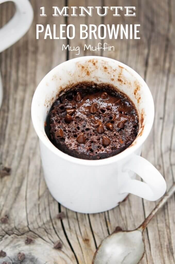 Best Paleo gluten free muffin recipe made in 1 minute! Easy to make healthy breakfast muffins, dessert cupcakes, brownies, and more! Healthy eating for on the go!