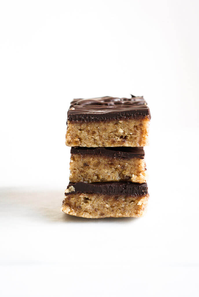 """Best Paleo """"Peanut Butter"""" Protein Bars. Gluten free, paleo, and healthy snacks and dessert recipes for on the go. Easy paleo cookies."""