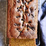 Best gluten free and paleo soft pumpkin bread! Easy to make and filled with pumpkin spice flavor.
