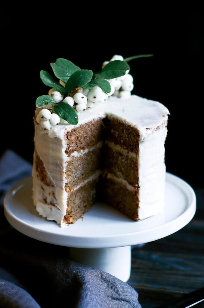 Cake food photogrpahy. Healthy gluten free paleo banana cake. Moist, delicious, easy to make.