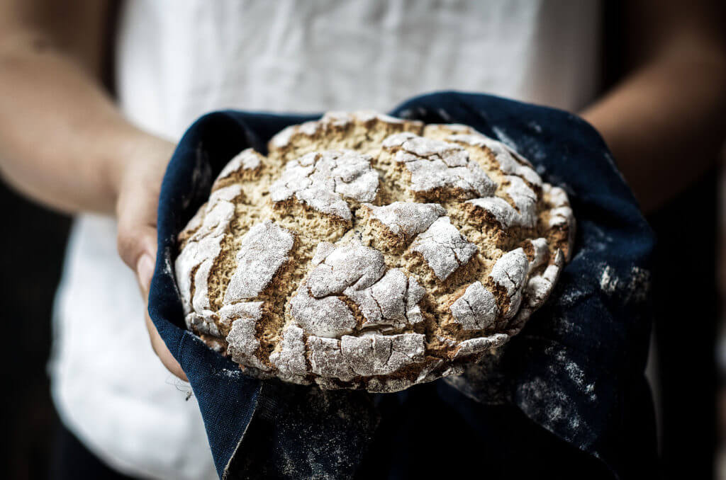 Grain free paleo rustic loaf of Crusty Bread that tastes and looks real! Easy to make, Nut free!