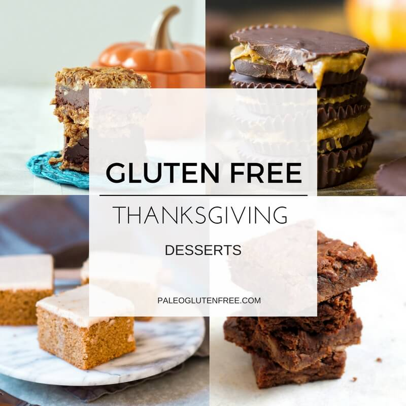Best gluten free thanksgiving dessert recipes. Healthy paleo and gluten free holiday recipes.