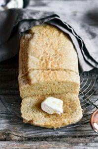 Healthy 5 Minute gluten free sandwich bread. Easy paleo diet recipes. Best gluten free bread.