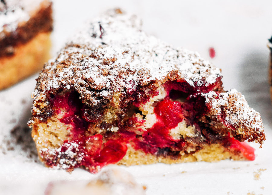 Healthy Paleo Cranberry Coffee Cake