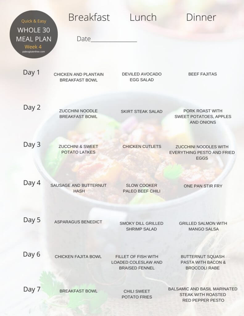 Whole 30 meal plan for 30 days paleo gluten free eats whole30 meal plan thats quick and healthy whole30 recipes just for you whole30 meal forumfinder Image collections