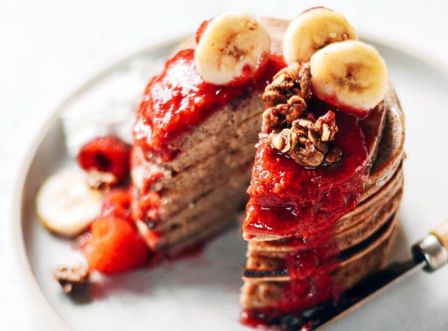 Healthy 5 Minute Paleo Pancakes