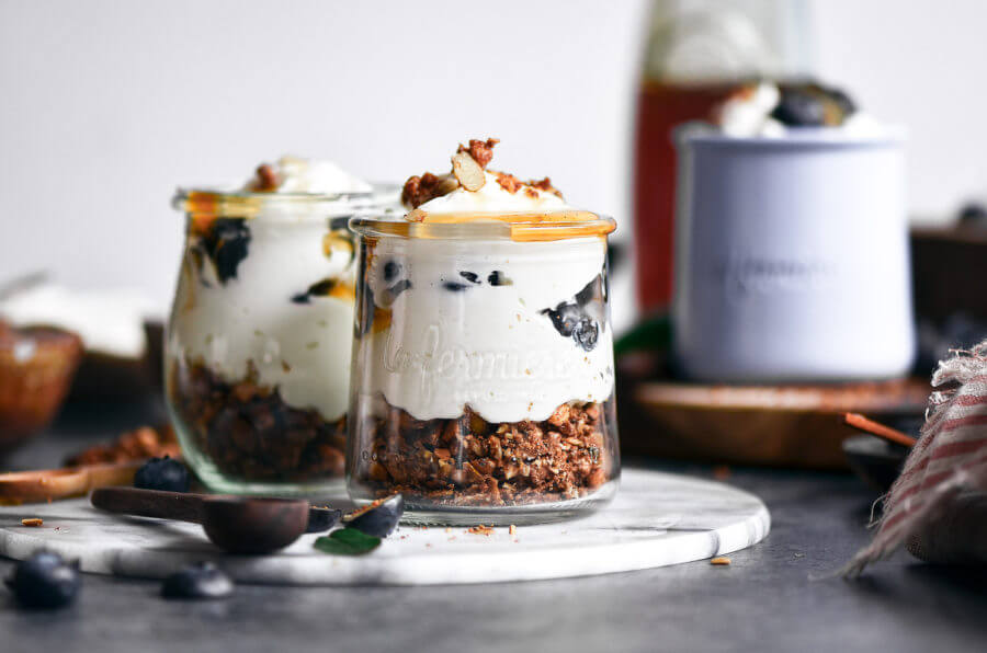 Greek Yogurt Honey Parfaits (With Paleo Option)