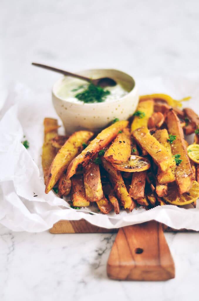 How to make crispy sweet potato fries fried