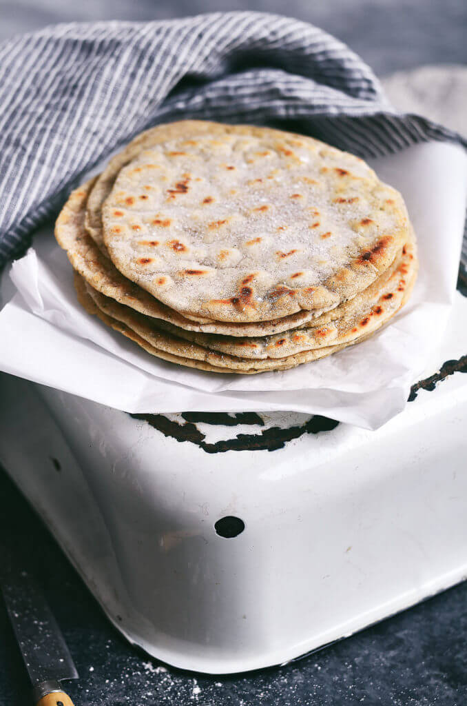 The easiest, most versatile, fool proof, and delicious paleo cassava flour tortillas! Mix up and cook in 5 minutes! Make them thick, thin, crisp, or soft! Gluten free and dang delicious! Easy gluten free tortilla recipe. best gluten free tortilla recipe. Best paleo tortilla recipe. Easy paleo tortillas. Healthy tortillas. 5 minute cassava flour tortillas.