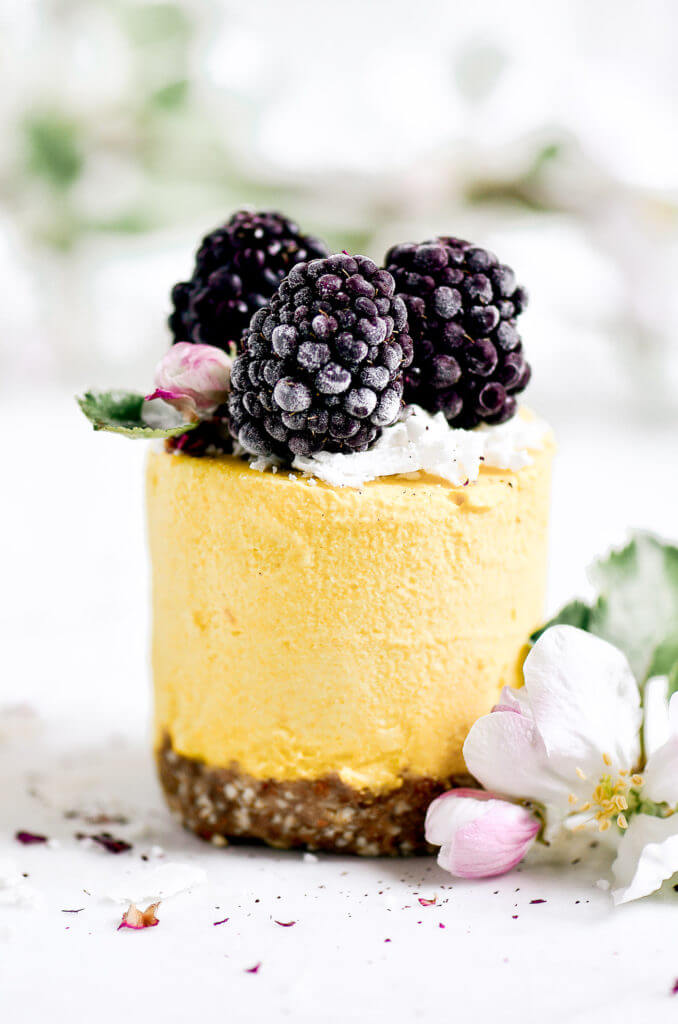 Vegan raw lemon peach mini cheesecakes with butternut squash! Paleo and dairy free. Make ahead and store in the freezer. Raw paleo cheesecake recipe. No bake cashew cheesecake. Best gluten free vegan cheesecake. Raw paleo cheesecake recipe. No bake cheesecake recipe. Paleo cream cheese. Best paleo dessert recipes. Mothers day dessert recipes. Healthy paleo meals.