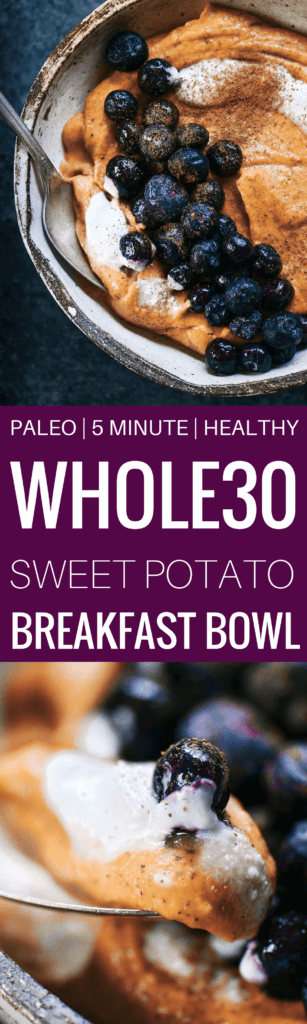 102 calorie whole30 and paleo breakfast! Only takes 3 ingredients and a few minutes to make. Loaded with healthy fats and protein! Naturally sweetened with sweet potato. Creamy and addictively smooth. Whole30 breakfast ideas. Best whole30 breakfast recipes. whole30 meal plan. Easy whole30 dinner recipes. Easy whole30 dinner recipes. Whole30 recipes. Whole30 lunch. Whole30 meal planning. Whole30 meal prep. Healthy paleo meals. Healthy Whole30 recipes. Easy Whole30 recipes. Easy whole30 dinner recipes.