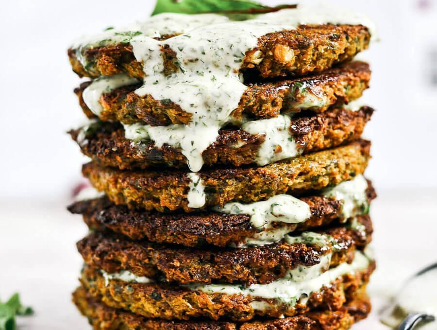 Crispy Baked Whole30 Cauliflower Patties