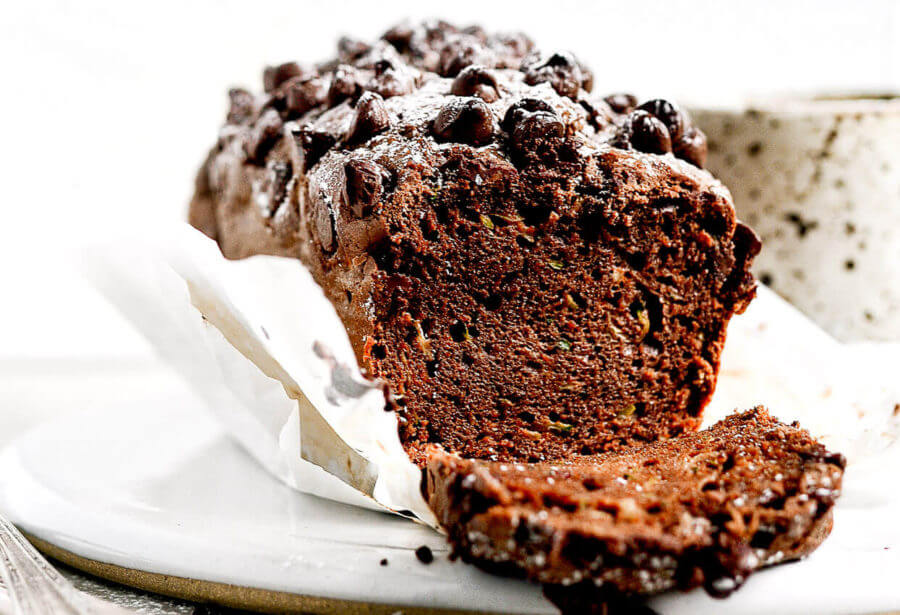 Paleo Almond Butter Chocolate Zucchini Bread