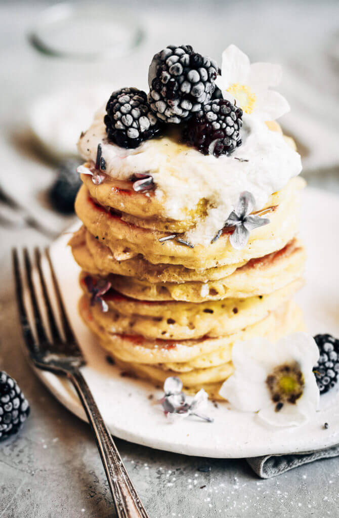 Easy healthy pancake recipe the whole family will love! Paleo pancakes that can be made ahead and stored in the freezer for quick and easy paleo breakfasts on the go. Recipe for light and fluffy homestyle grain free pancakes.