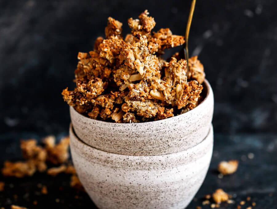 Sea Salt Cashew Butter Paleo Granola