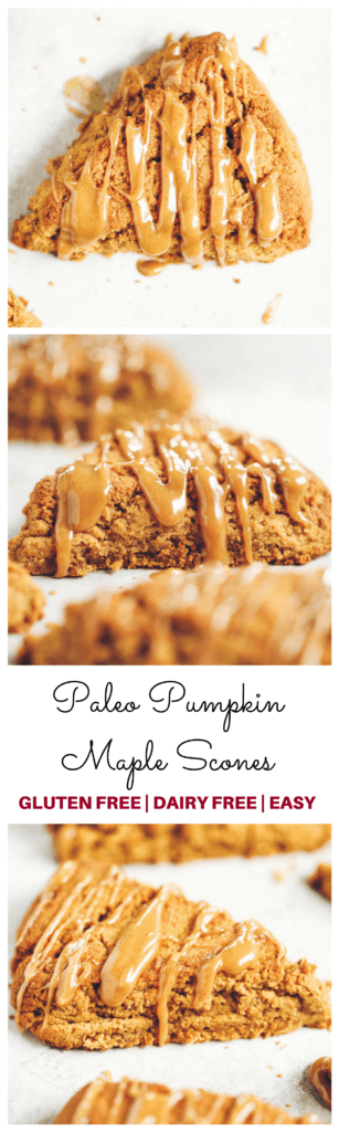 Easy gluten free, paleo pumpkin spice scones with maple glaze. A warm and comforting grain free treat for cosy fall mornings.This grain free pumpkin scone recipe is a family favorite. If you love scones as much as I do, then today is gonna be a good day for you! Easy gluten free scones Gluten free pumpkin scones. Paleo pumpkin scones. Paleo vegan pumpkin scones. Easy paleo pumpkin scones. Starbucks copy cat pumpkin scones. Healthy gluten free scones.