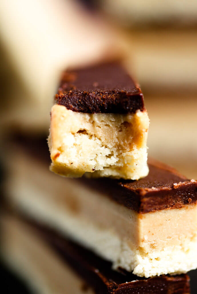 Healthy Homemade Paleo Twix Bars