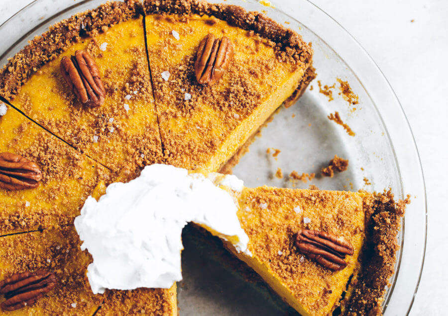 Easiest Vegan Pumpkin Cheesecake