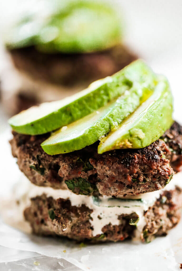 Your family is going to love these spiced up southwestern whole30 burgers! We love this whole30 approved recipe for a quick & easy emergency meal! These healthy spiced up burgers are perfect served alongside a dish of sweet potato fries and some avo! Whole30 meal plan that's quick and healthy! Whole30 recipes just for you. Whole30 meal planning. Whole30 meal prep. Healthy paleo meals. Healthy Whole30 recipes. Easy Whole30 recipes.