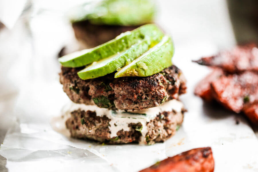 Chile Lime Avocado Burgers