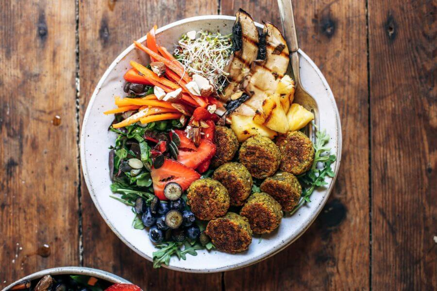 Whole30 Vegan Sweet Potato Falafel Bowl