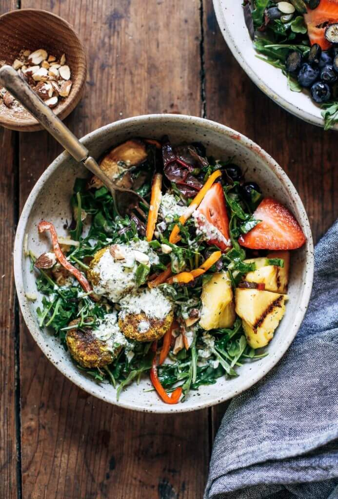 Whole30 Vegan Sweet Potato Falafel Bowl Paleo Gluten