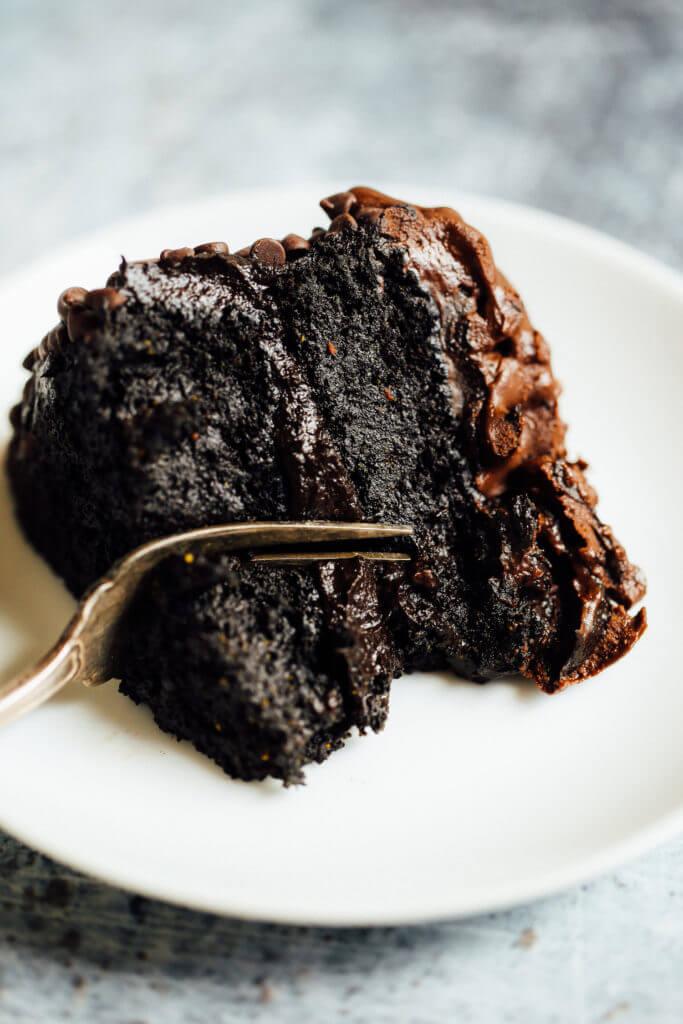 Easy Vegan Avocado Chocolate Cake