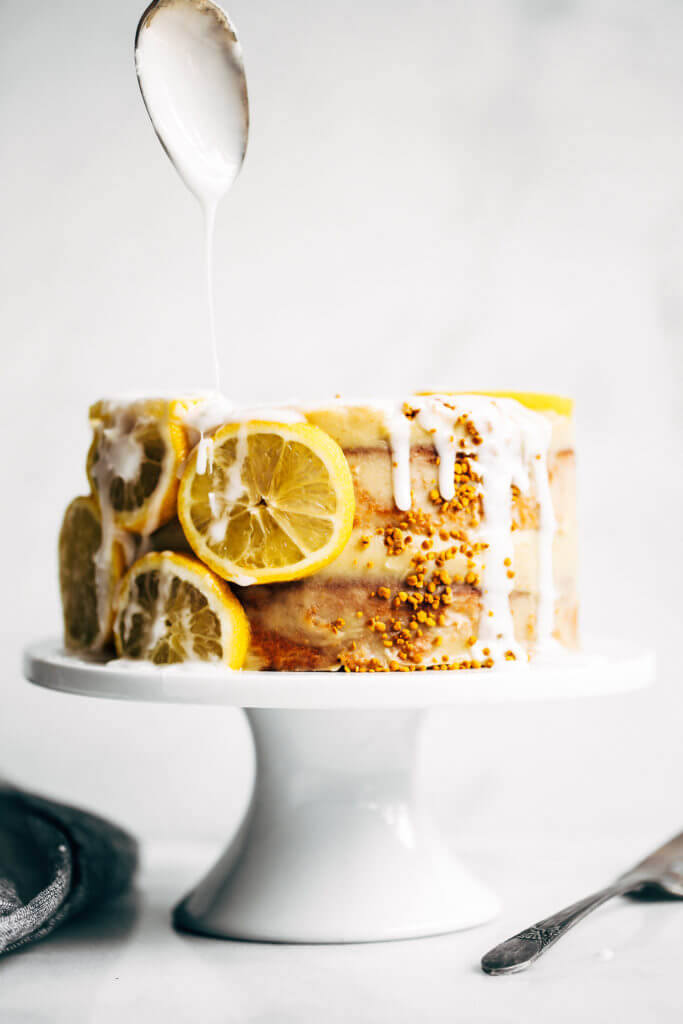Healthy paleo lemon layer cake with sweet potato frosting. Easy gluten free cake made with sweet potatoes, not flour! A quick paleo dessert recipe, perfect for summer. An easy paleo birthday or celebration cake that is moist and delicious. Paleo for beginners. Paleo diet recipes. Easy paleo dessert. Easy paleo dessert recipes. Quick paleo desserts. Sugar free paleo desserts. Paleo gluten free birthday cake. Healthy paleo chocolate cake recipes. Paleo frosting recipes. Coconut flour paleo cake. Vegan frosting.
