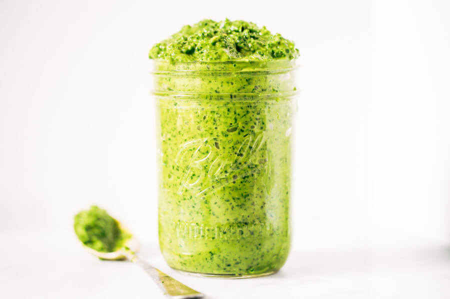 5 Minute Kale Avocado Pesto