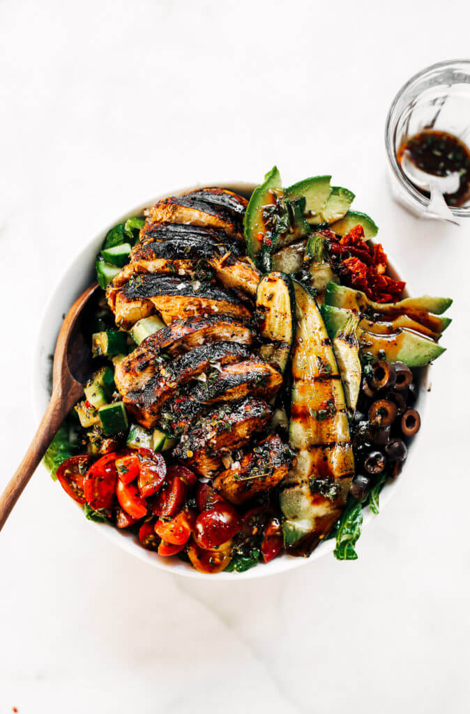 Whole30 Balsamic Grilled Chicken Salad Paleo Gluten Free Eats