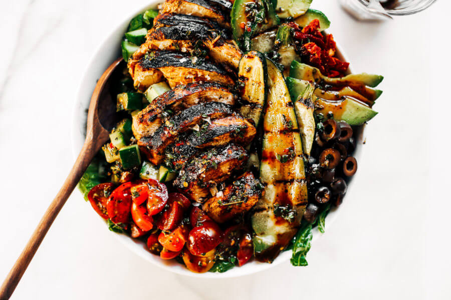 Whole30 Balsamic Grilled Chicken Salad