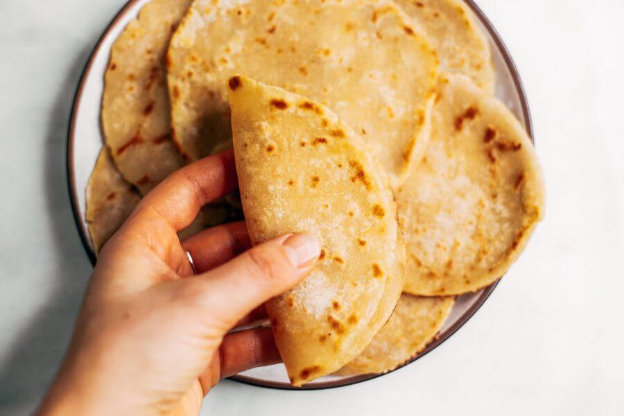 Two Ingredient Paleo Cauliflower Tortillas