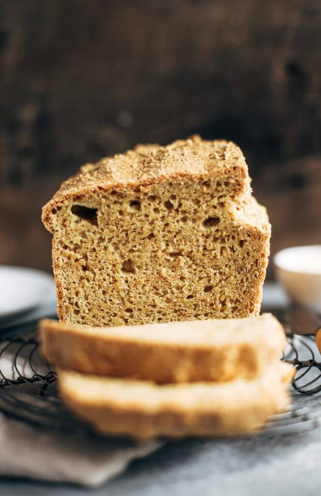 Perfect gluten-free keto sandwich bread. Easy paleo bread recipe without yeast! This almond flour sandwich bread tastes amazing, holds together, and is easy to make! Nothing like homemade bread.