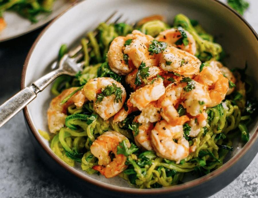 Zucchini Noodles With Lemon Garlic Shrimp