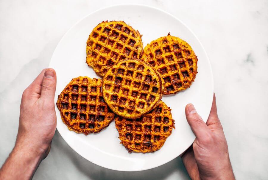 Sweet Potato Paleo Waffles