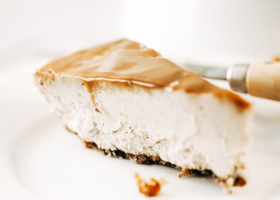 Paleo Chai Caramel Cheesecake